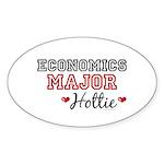 Economics Major Hottie Oval Sticker