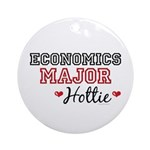 Economics Major Hottie Ornament (Round)