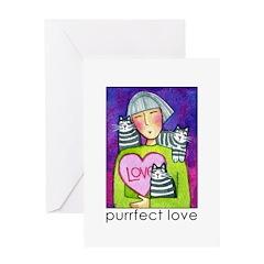 CUPID KITTY No. 2...Blank Valentine Greeting Card