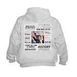 Hope Won/Dream to History Kids Obama Hoodie