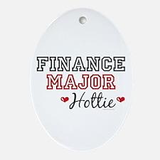 Finance Major Hottie Oval Ornament