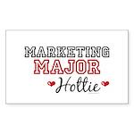 Marketing Major Hottie Rectangle Sticker