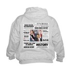Hope Won/Dream to History Kids Obama Hoodie