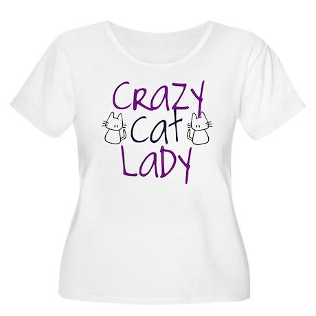 Crazy cat lady Women's Plus Size Scoop Neck T-Shir