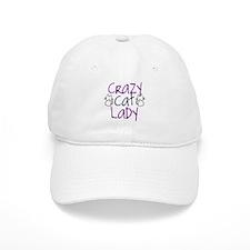 Crazy cat lady Baseball Cap
