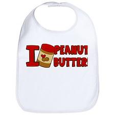I Love Peanut Butter Bib