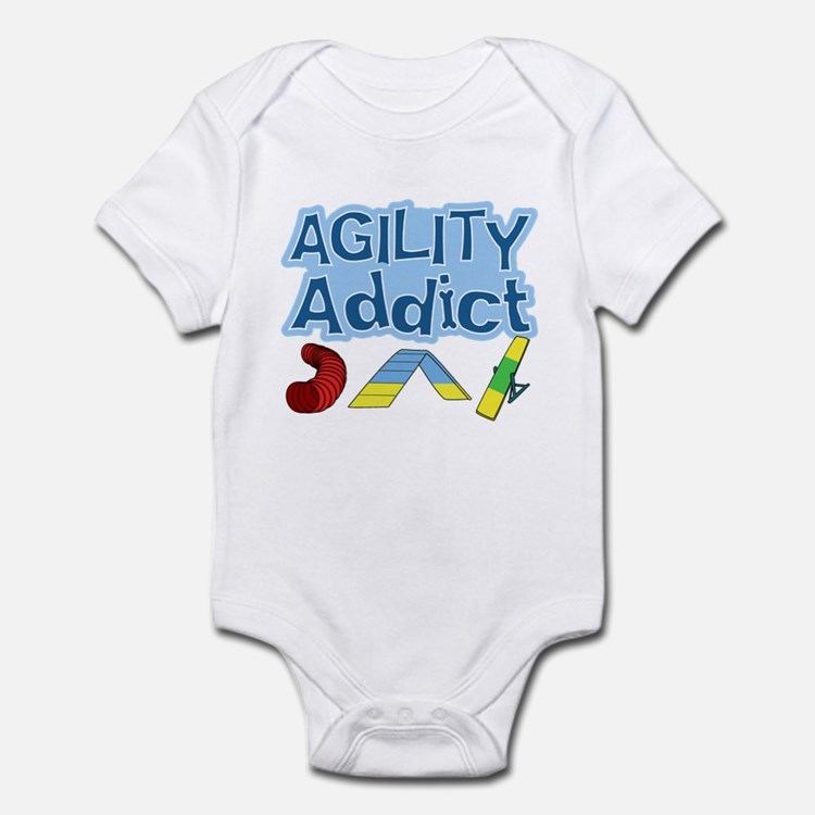 Dog Agility Addict Infant Bodysuit
