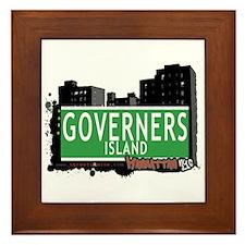 GOVERNERS ISLAND, MANHATTAN, NYC Framed Tile