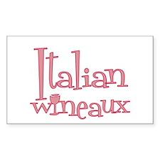 Italian Wineaux Rectangle Decal