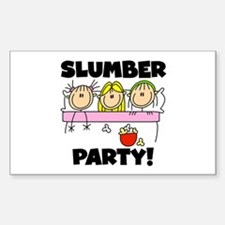 Slumber Party Rectangle Decal