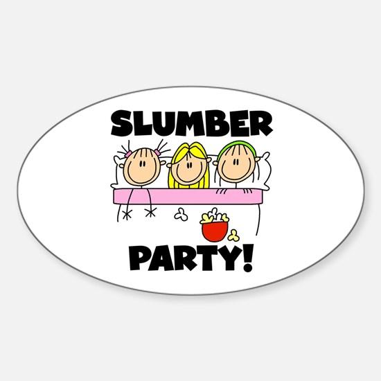 Slumber Party Oval Decal