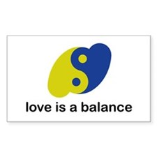 Love is a Balance Rectangle Decal