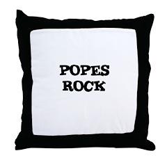 POPES ROCK Throw Pillow