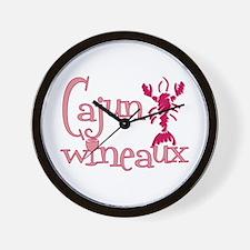 Cajun Wineaux crawfish Wall Clock