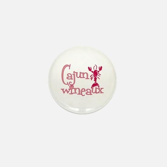 Cajun Wineaux crawfish Mini Button