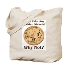 Wooden Nickels Tote Bag