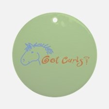 Bashkir Curly Horse Ornament (Round)