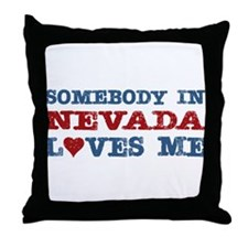 Somebody in Nevada Loves Me Throw Pillow