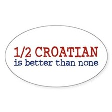 Half Croatian Oval Decal