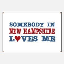 Somebody in New Hampshire Loves Me Banner