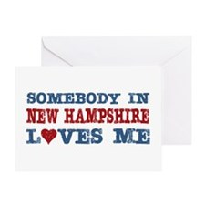 Somebody in New Hampshire Loves Me Greeting Card