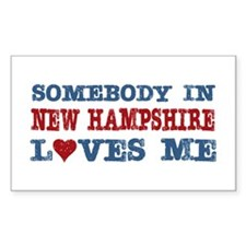 Somebody in New Hampshire Loves Me Decal