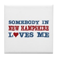 Somebody in New Hampshire Loves Me Tile Coaster