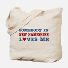 Somebody in New Hampshire Loves Me Tote Bag