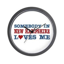 Somebody in New Hampshire Loves Me Wall Clock