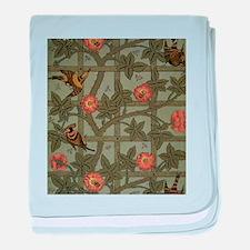 Vintage Green Floral baby blanket