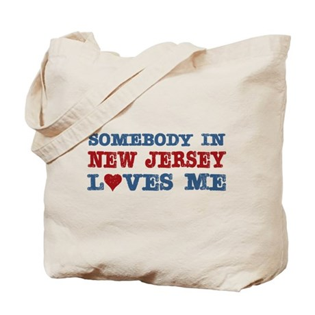 Somebody in New Jersey Loves Me Tote Bag