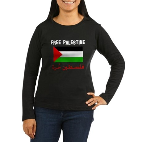 Free Palestine dark shirts Women's Long Sleeve Dar