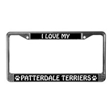 I Love My Patterdale Terriers License Plate Frame