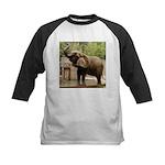 African Elephant 002 Kids Baseball Jersey
