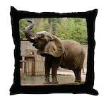 African Elephant 002 Throw Pillow