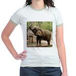 African Elephant 002 Jr. Ringer T-Shirt