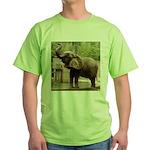 African Elephant 002 Green T-Shirt