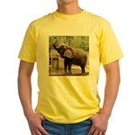 African Elephant 002 Yellow T-Shirt