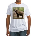 African Elephant 002 Fitted T-Shirt