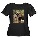 African Elephant 002 Women's Plus Size Scoop Neck