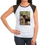 African Elephant 002 Women's Cap Sleeve T-Shirt