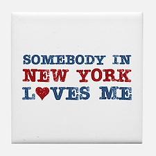 Somebody in New York Loves Me Tile Coaster