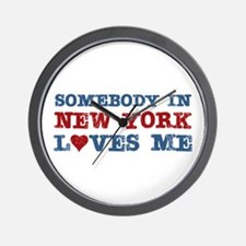 Somebody in New York Loves Me Wall Clock