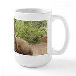 African Elephant 002 Large Mug