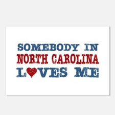 Somebody in North Carolina Loves Me Postcards (Pac