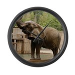 African Elephant 002 Large Wall Clock