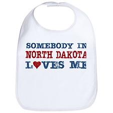 Somebody in North Dakota Loves Me Bib