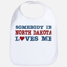 Somebody in North Dakota Loves Me Bib