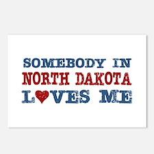 Somebody in North Dakota Loves Me Postcards (Packa