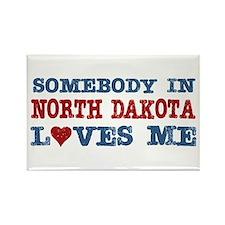 Somebody in North Dakota Loves Me Rectangle Magnet
